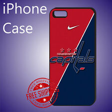 ED# NHL Washington Capitals Hockey Case Cover iPhone X 8 8+ 7+ 7 6s+ 6+ se 5c 5s
