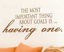 Wall Decal Sticker Quote Vinyl Art Lettering Removable Have and Make Goals J28