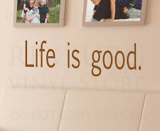 Wall Art Decal Sticker Quote Vinyl Lettering Decorative Letter Life is Good I21