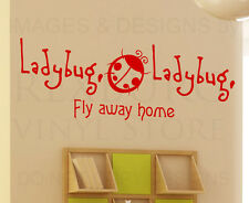 Wall Decal Sticker Quote Vinyl Art Large Kid's Nursery Ladybug Fly Away Home K33