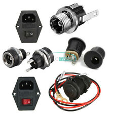 5.5x2.1mm DC 022 Power Outlet Jack Socket Connector /3 in 1 Fuse AC 250V 10A