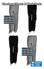 Quality Chef Drawstring Pants, Chef Trousers, Black Pants, Checkered Pants