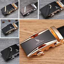 Men Luxury Fashion Genuine Cow Leather Belt Men's Elegant Automatic Buckle Belts