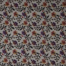 Quilt Fabric Cotton Calico Purple & Gold Floral by Marcus : FQ or Cut-to-Order