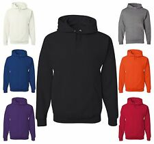 Men's JERZEES Hooded Sweatshirt 50/50 Cotton/Poly Hoodie With Front Pouch 996