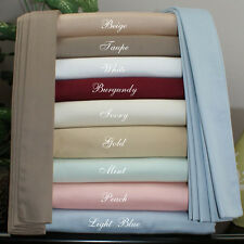 New 1200 TC  Egyptian Cotton Complete Bedding Items UK King All Solid Color