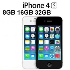 Apple iPhone 4S 8 16 32 64GB Factory Unlocked Mobile Smartphone Black White