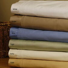 1000TC Egyptian Cotton Extra Deep Pocket Bedding Items Select Color Twin Size