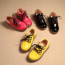 New Fashion Toddler Boys Girls Leather Shoes Children kids Lace Up Martin Boots