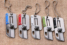 Gift Mini Knife Stainless Steel 440C Blade Folding Pocket Knife with Key Chain