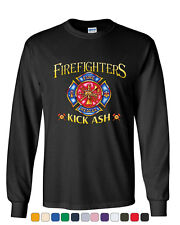 Firefighters Kick Ash Long Sleeve T-Shirt  Volunteer FD Fire Rescue