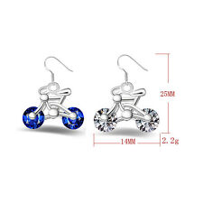 Fashion Women Gift Design New 1Pair Bike Bicycle Earring Earring Jewelry Crystal