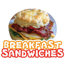 BREAKFAST SANDWICHES  Concession Decal sign cart trailer stand sticker equipment