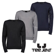 Tee Jays Mens Crew Neck Knitted Sweater