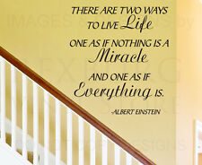 Wall Decal Art Sticker Quote Vinyl Lettering Letter Life Miracles Happen IN65