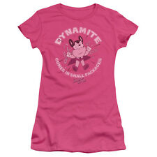 Mighty Mouse DYNAMITE COMES IN SMALL PACKAGES Ladies Cap Sleeve T-Shirt