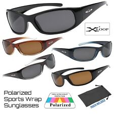Mens Xloop Sports Outdoor Wrap Around Plastic Frame Polarized Lens Sunglasses