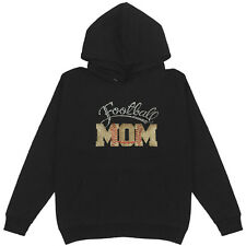 Football Mom Patch Women's Pullover Hoodie Plus Size Handmade Sports Cotton