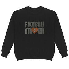 Football Mom Women's Sweatshirt Plus Size Unisex Bling Sports Handmade Cotton