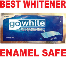 SUPER WHITE GENUINE PRO BEST TEETH WHITENING STRIPS ENAMEL SAFE