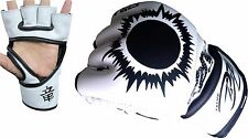 MMA UFC Sparring Grappling Fight Boxing Punch Ultimate Mitts Leather Gloves BZ