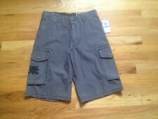 NEW Mens VOLCOM SURPLUS SQUARED TOO Charcoal Gray Cargo Shorts-Stone/Scout/Boys