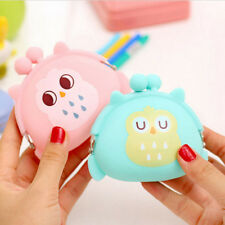 Cute Kids Coin Purse Owl Bag Silicone Mini Wallet Change Purse Keyring Pouch