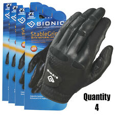 4 x Men's BIONIC StableGrip Golf Gloves/New with Natural Fit./Black - Left Hand