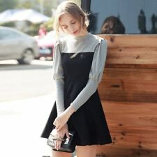 Women New Fashion Spring Vintage Mini Long Sleeve Casual Dress