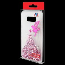for Samsung GALAXY S8 / S8 PLUS Pink Fairy Skin Glitter case Cover + Screen Film
