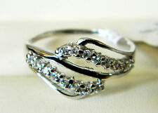 NEW Sterling Silver Ladies / Womens Clear Cubic Zirconia Ring Sizes J-U