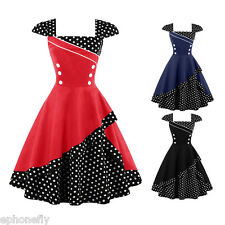 Women's Vintage Style 1950's Rockabilly Audrey PIN UP Swing Party Evening Dress