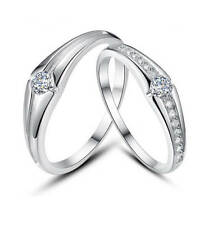 Vivere Rosse Beloved 925 Sterling Silver Wedding Bands / Engagement Rings
