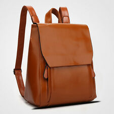 Women Backpack Shoulder Bag Schoolbag Bookbag Leather Outdoors Multicolor
