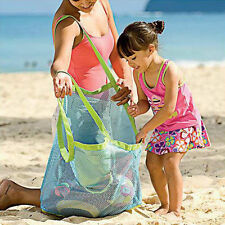 Portable Sand Away Carry Toys Mesh Tote Large Beach Storage Bag Net New