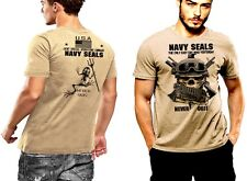 Navy Seals T-Shirt Skull And Shemagh Frogmen Never Quit DEVGRU 2 SIDED PRINT