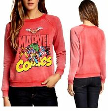 Marvel Freeze Comics Burnout Juniors' Fleece Sweatshirt (Large) NEW