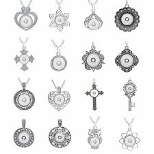 wholesale mix styles ginger 12mm/18mm fashion charms snaps pendant&necklaces