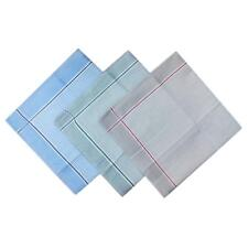 12pcs Men Check Handkerchiefs Cotton Pocket Square Hanky Handkerchief
