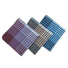 12pcs Packs Mens Gents Striped Multi-color Cotton Handkerchiefs Hanky