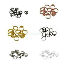 10pcs 12mm Vintage Silver Gold Adjustable Flat Ring Base Blank Jewelry Findings