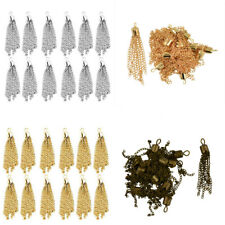 12pcs 50mm Tassel Charm Pendant For Chain Necklace Jewelry Making DIY Craft