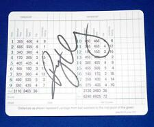 RORY MCILROY SIGNED AUGUSTA NATIONAL MASTERS SCORECARD FREE SHIPPING SALE