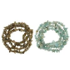 Natural Freeform Stone Chips Gemstone Spacer Beads Strand Jewelry Making Crafts