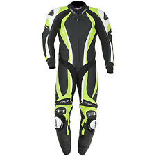 RST Pro Series CPX Carbon 1 Piece Motorcycle Leather Race Suit - Flo Green