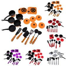 Children Play Toys Kitchen Utensils Pots Pans Cooking Food Dishes Cookware