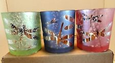 *NEW FOR 2017*3 Piece Set of~Flickering Dragonfly~Yankee Candle Votive Holders