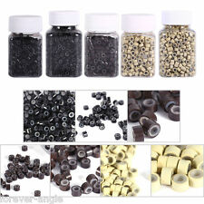 Silicone Lined Micro Rings Beads Links For Feather Hair I Tip Hair ExtensionTool