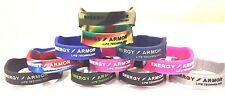 Energy Armor negative ion silicone bracelet ALL SIZES AND COLORS IN STOCK