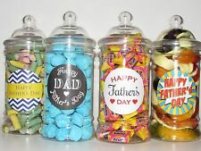 Fathers day victorian jar filled with your favourite retro sweets